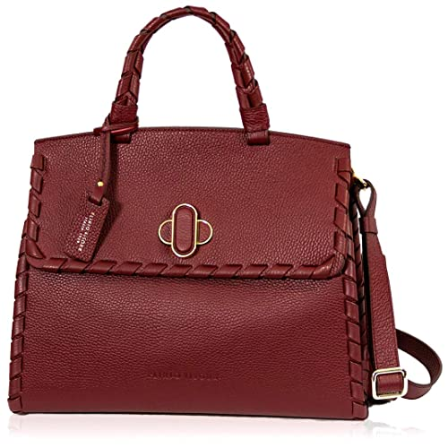 3c5a53d6d049a Image Unavailable. Image not available for. Color  Plinio Visona Italian  Designer Marsala Red Leather Statement Crossbody Bag