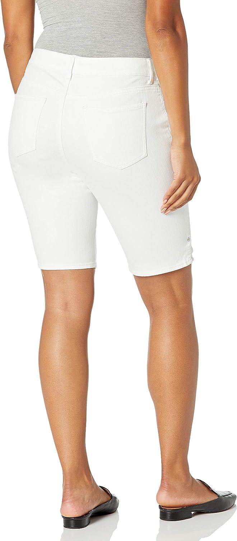 Gloria Vanderbilt Womens Mid Rise Belted Jean Bermuda Short