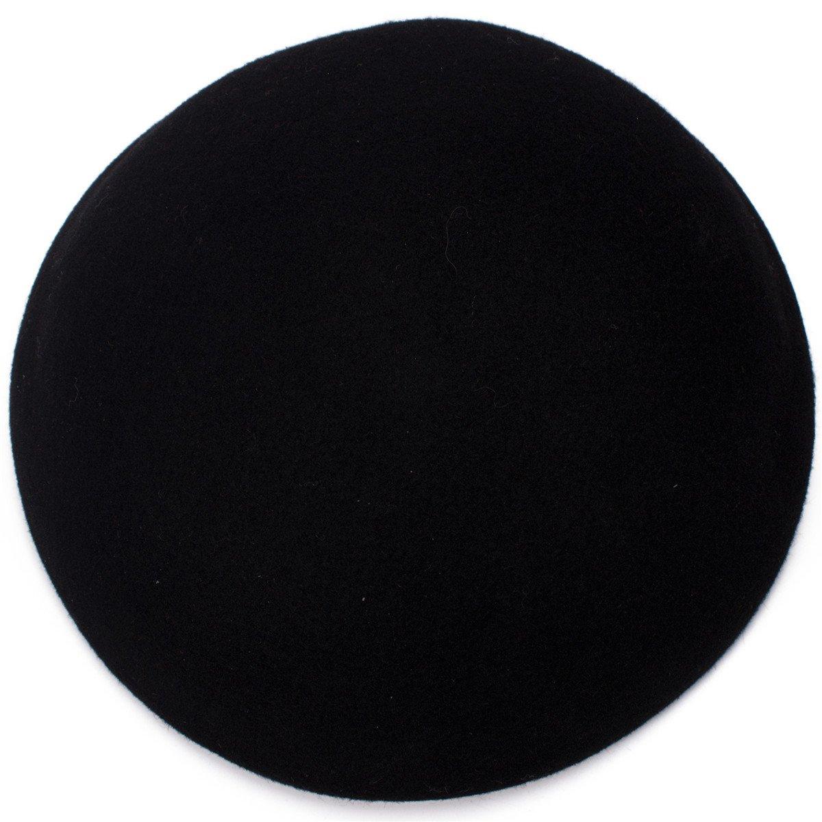 Lawliet Cute Wool Felt Pillbox Hat millinery Teardrop Fascinator Base Craft Supply (Black)