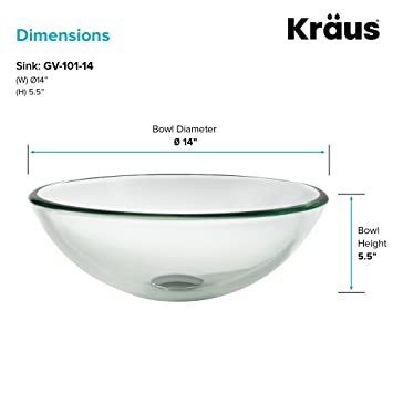 Amazon.com: Kraus gv-101 – 14-so Vessel lavamanos ...