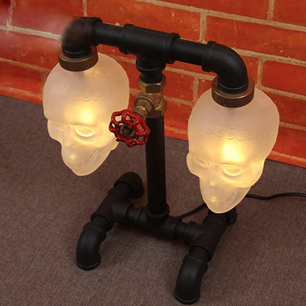 Creativa minimalista lampada da comodino camera da letto Skull Lamp bottiglia