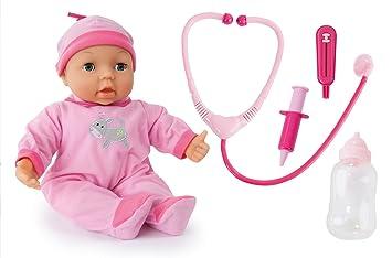 Bayer Design - Muñeca bebé médico con accesorios e 25 funciones, 38 cm (93877