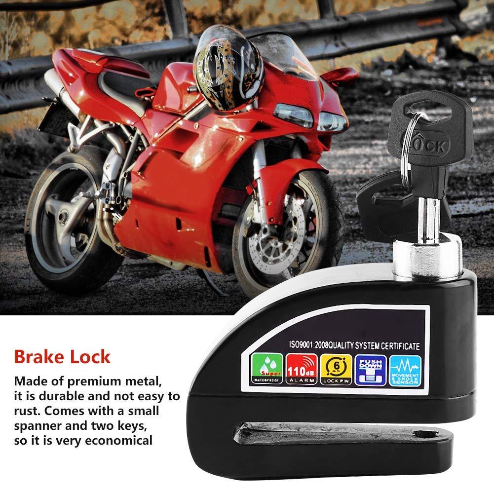 Moto Scooter Bicicleta Antirrobo Bloqueo de freno de disco Sistema de alarma de seguridad Color : Azul Bloqueo de freno de disco