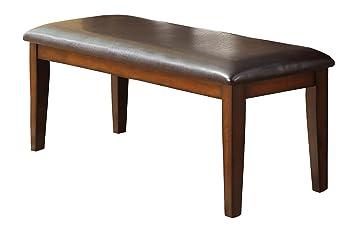 Amazing Homelegance 48u0026quot; Dining Bench With Bi Cast Vinyl Padded Seat, ...