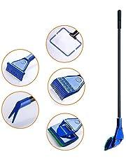 5 in 1 Aquarium Fish Tank Clean Set Complete Adjustable Kit Fish Net + Rake + Scraper + Fork + Sponge Brush
