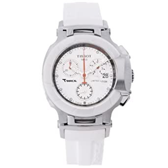 00ee5a1d4 Image Unavailable. Image not available for. Color: Tissot Women's T-Race  Stainless Steel Swiss-Quartz Watch with Rubber ...
