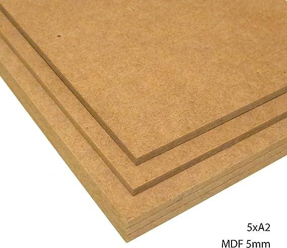 para Maquetas L/áser 120 x 80 cm - Pack de 3 Tableros de DM de 3 mil/ímetros Elige Medidas: Dibujar Pintar CNC