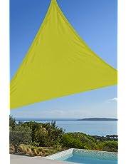 Ideanature Toile d'ombrage Triangulaire 3X3X3m Polyester déparlent Anti UV 140 GR/m2
