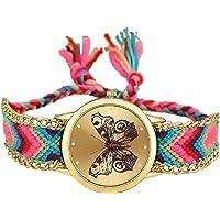 Freny Exim Fabric Multicolor Belt Analogue Beautiful Dial Bracelet Women Watch _Geneva_Dial