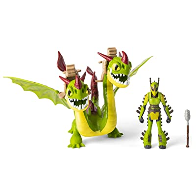 Dreamworks Dragons, Ruffnut & Barf & Belch, Dragon with Armored Viking Figure, for Kids Aged 4 & Up: Toys & Games
