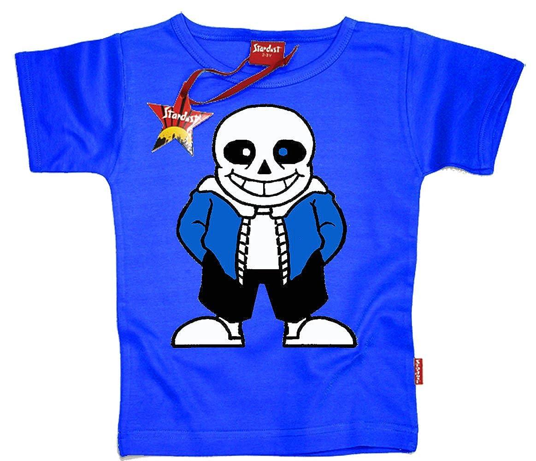 Stardust Undertale Inspired Sans Skellington Kids Childrens T-Shirt (Electric Blue)