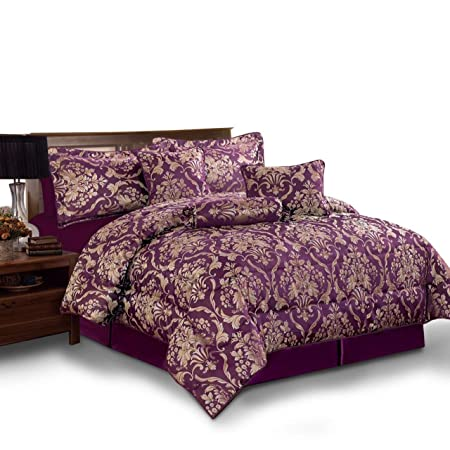 Bedspread Set 7 Piece Comforter Set Jacquard Fabric Bedding Set