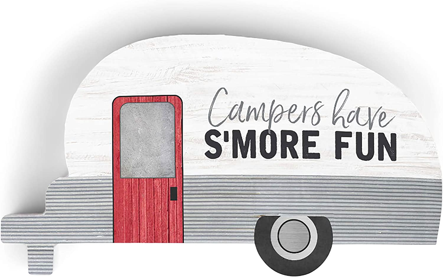 P. Graham Dunn Campers Have S'More Fun Trailer Grey 5 x 2.75 Pine Wood Small Tabletop Plaque