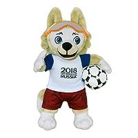 FIFA 2018 100102zabivaka–Produit Officiel Mascotte (Coupe du Monde de Football) Peluche 25cm