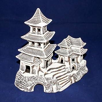 Aquarium Deko Aus Keramik Xxl Chinahaus 27 Cm Breit 25 Cm Hohe 16 Cm Tiefe Grosses Chinesisches Teehaus Amazon De Haustier