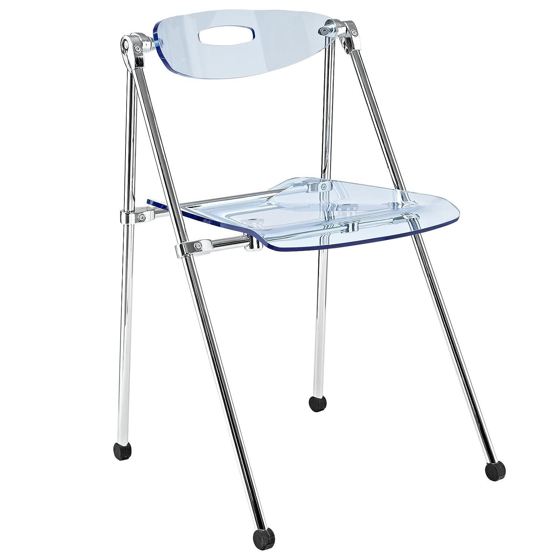 Modway Telescoping Folding Chair, Light Blue Modway© EEI-148-LBU
