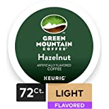 Green Mountain Coffee Roasters Hazelnut Keurig Single-Serve K-Cup Pods, Light Roast Coffee, 72 Count (6 Boxes of 12 Pods)
