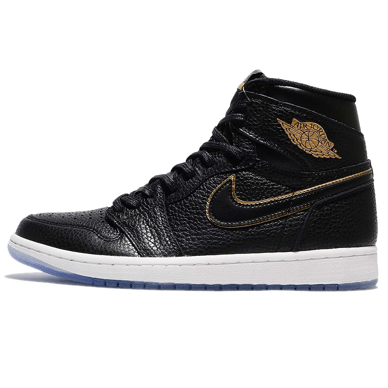 quality design d0883 84da9 Amazon.com   NIKE Jordan Men s Air 1 Retro High OG, Black Metallic Gold, 17  M US   Fashion Sneakers