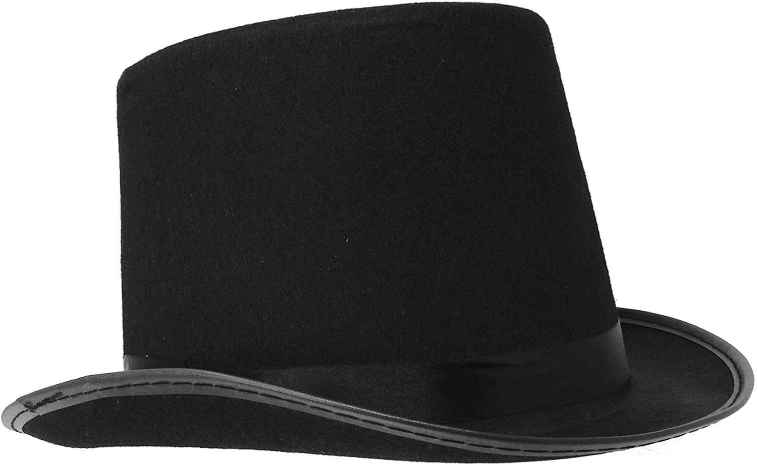 Magician Kids Adult Steampunk Tall Hat Top Costume Magic Party Performing Black
