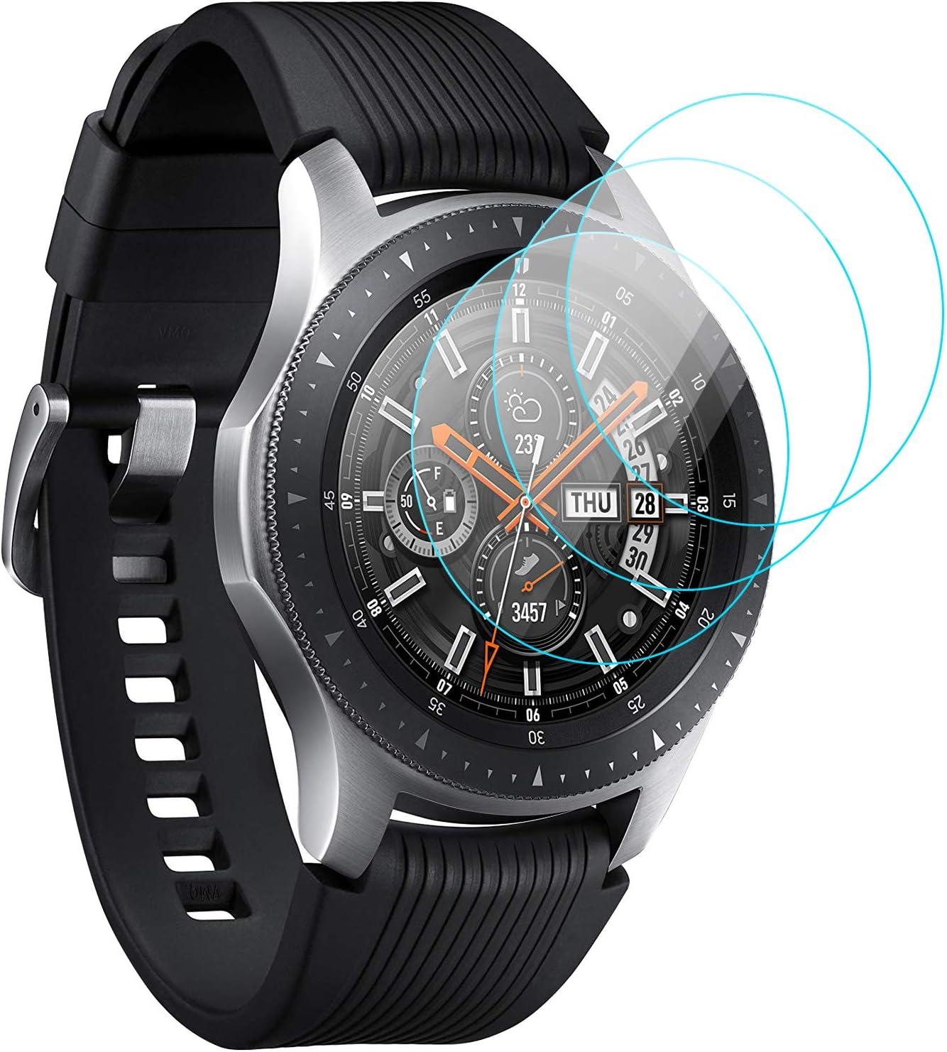 KIMILAR Pantalla Compatible con Samsung Galaxy Watch 46mm / Gear S3 Protector Pantalla, Templado Vidrio Compatible con Galaxy Watch 46mm & Gear S3 Frontier/Classic - 9H Dureza Anti-rasguñe