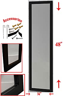 Amazon.com: Montebello Black Full Length Mirror, Hanging wall mirror ...
