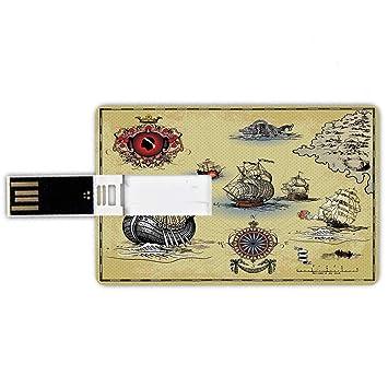 8GB Forma de tarjeta de crédito de unidades flash USB Brújula ...