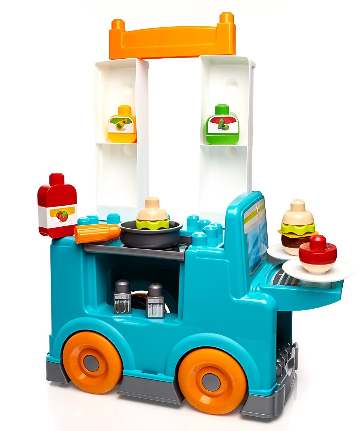 Amazon.com: Mega Bloks First Builders Food Truck Kitchen Building ...