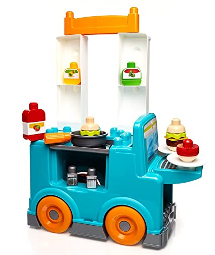 Amazon Com Mega Bloks First Builders Food Truck Kitchen Building