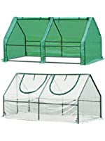 "Quictent 2 Covers Waterproof UV Protected Reinforced Mini Cloche Greenhouse 71"" WX 36"" D X 36"" Portable Green Hot House…"