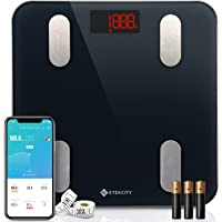 Etekcity Digital Body Weight Scale, Smart Bluetooth Body Fat BMI Scale, Bathroom Weighing Scale Tracks 13 Key Fitness…