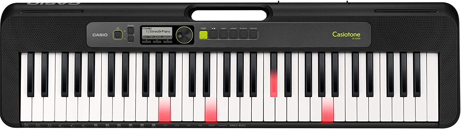 Casio LK-S250 61-Key Premium Lighted Keyboard Pack with ...