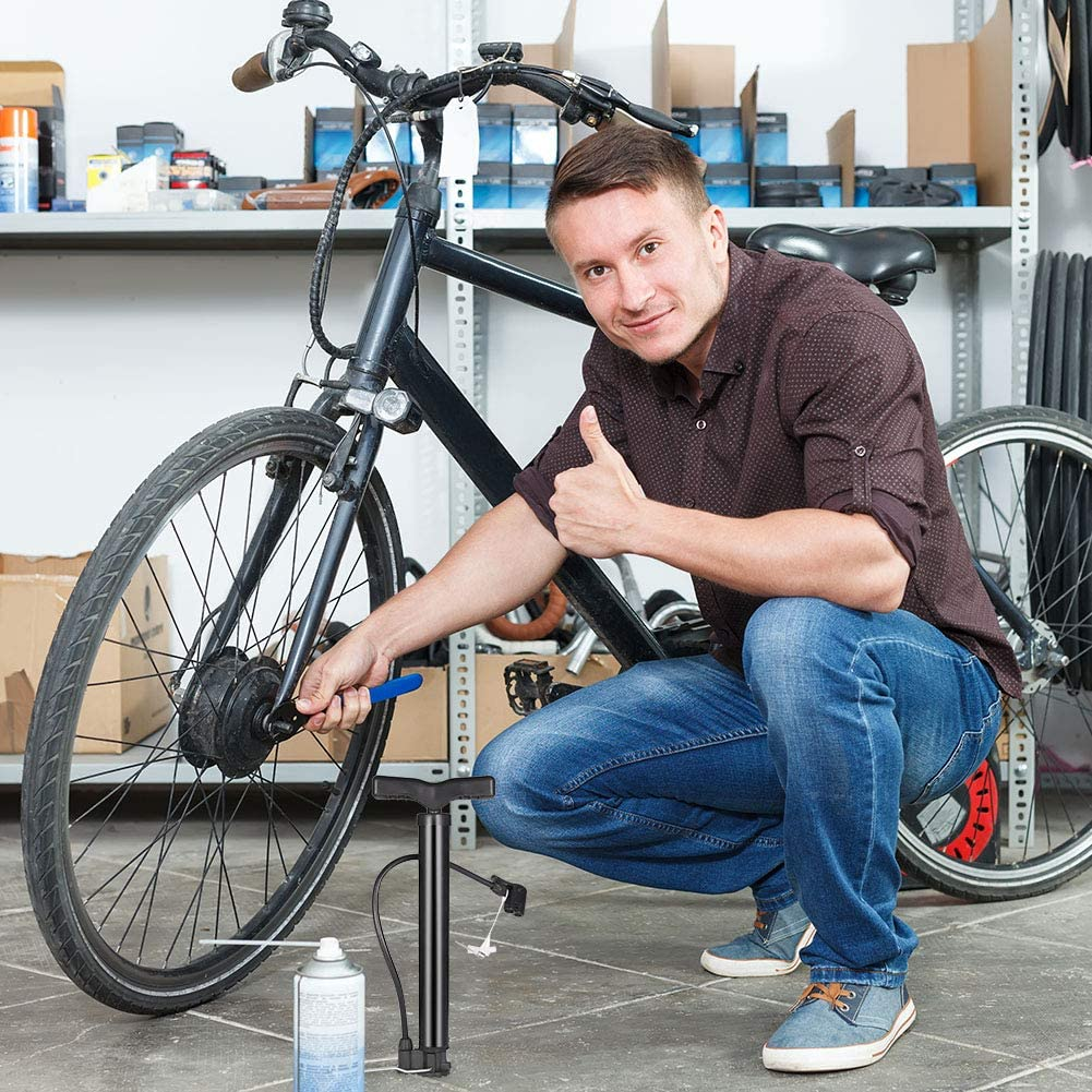 120PSI Alloy Portable Bike MTB Cycling Tire Air Floor Pump Basketball Inflator
