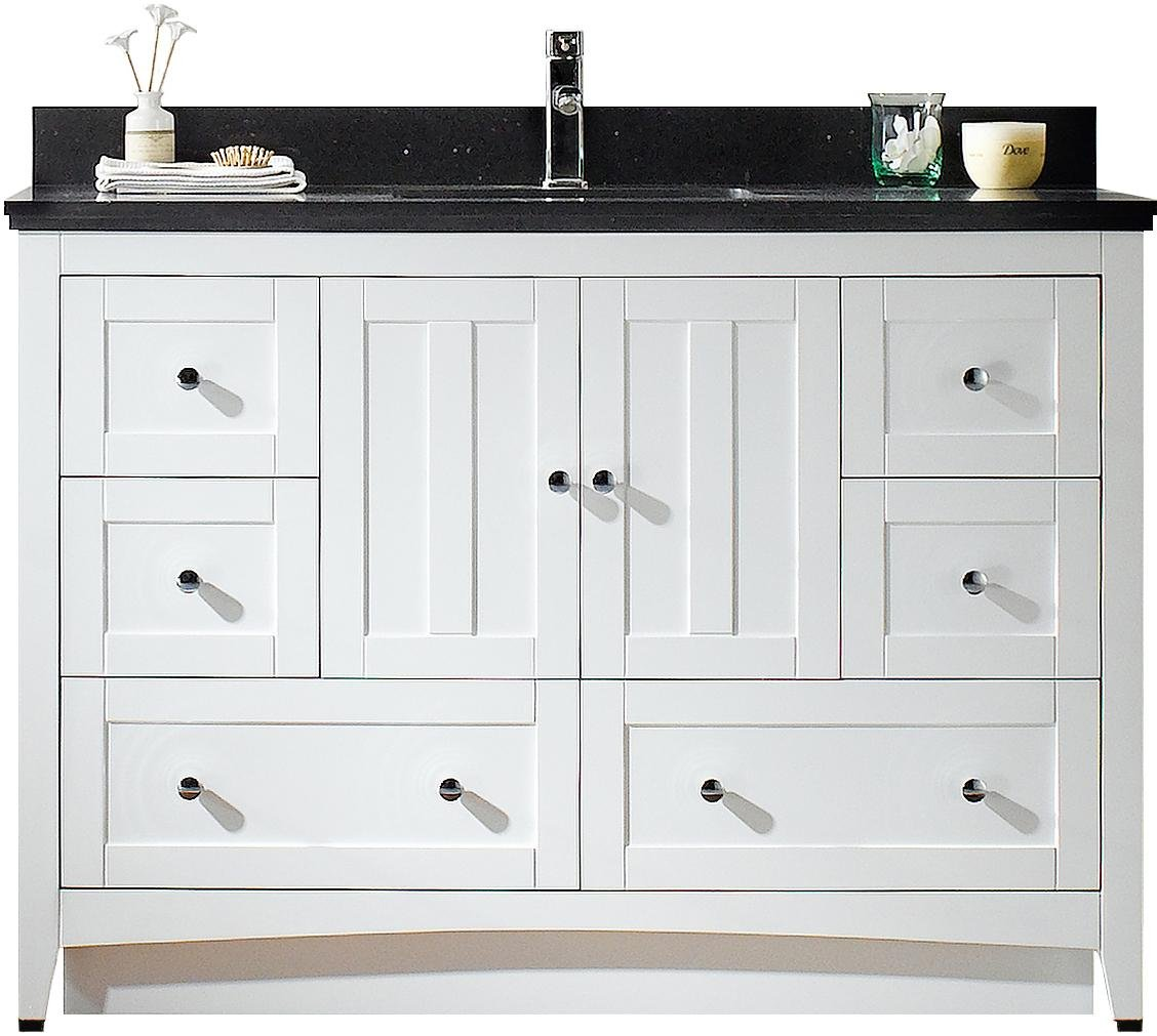 American Imaginations AI-999-17651 Modern Plywood-Veneer Vanity Set in White