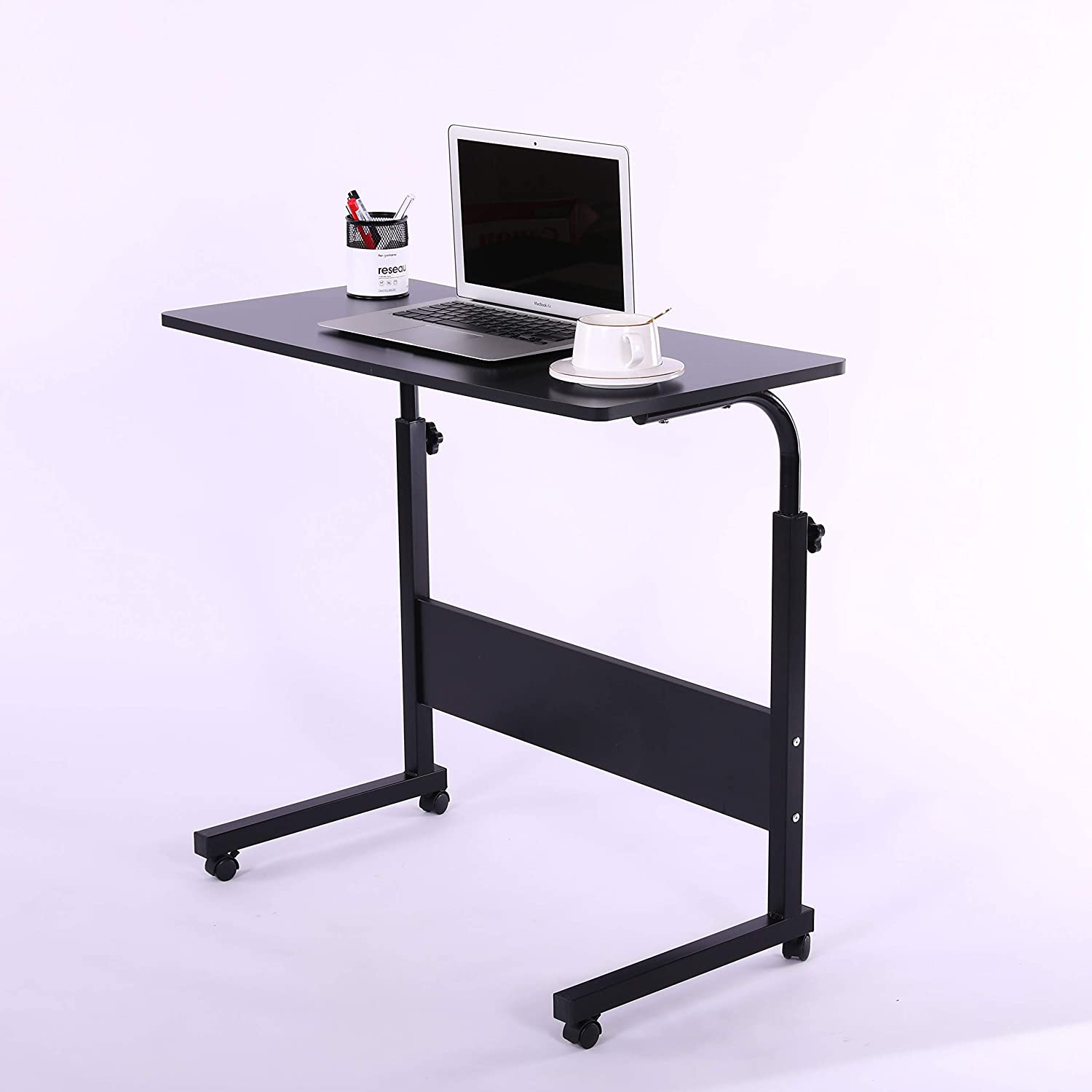 "Laptop Cart 31.5"" Mobile Table Fancasa Movable Portable Adjustable Notebook Computer Stand with Wheels (Black)"