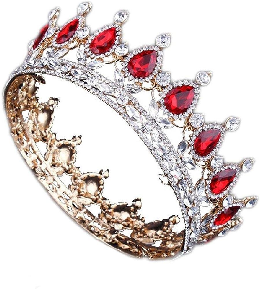 Layered Crystal Bridal Tiara Silver Plated