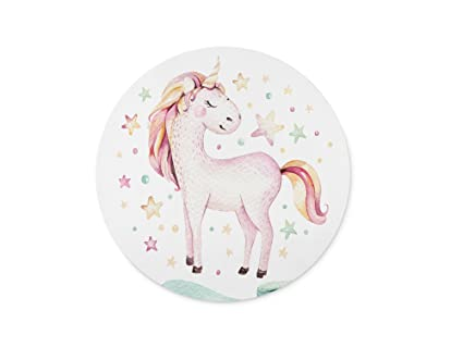 ABin Isolated cute watercolor unicorn clipart Mouse pad