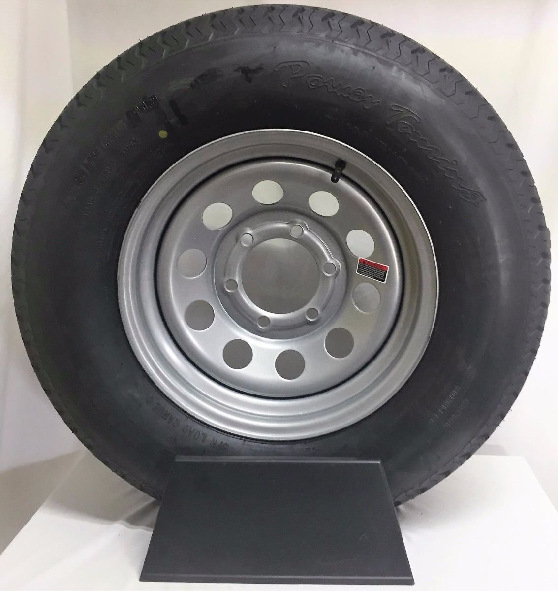 15 Silver Mod Trailer Wheel 6 Lug with Radial ST225/75R15 Tire Mounted (6x5.5) Bolt Circle Wheels Express Inc 15655sm225R