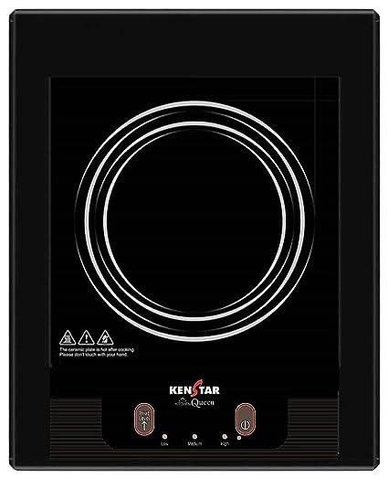 Kenstar Queen KIQ16BP3 1600-Watt Induction Cooktop (Black)