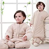 Nine States Kid Sleeping Sack Cotton Detachable Sleeves Wearable Blanket,XX-large