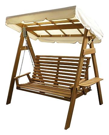 Hollywoodschaukel 3-Sitzer Schaukel Gartenschaukel Garten Gartenmöbel Holz NEU