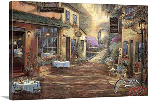 French Town Canvas Wall Art Print