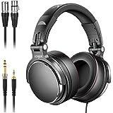 Studio Headphones with 6.6ft XLR Cable, Vogek Prefessional DJ Headphones Mixing DJ Headset Protein Memory Foam Ear Pads…