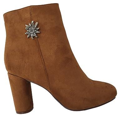 Freizeit Schuhe Damen für Stiefeletten Trendige Trachten jVLSMqzpGU