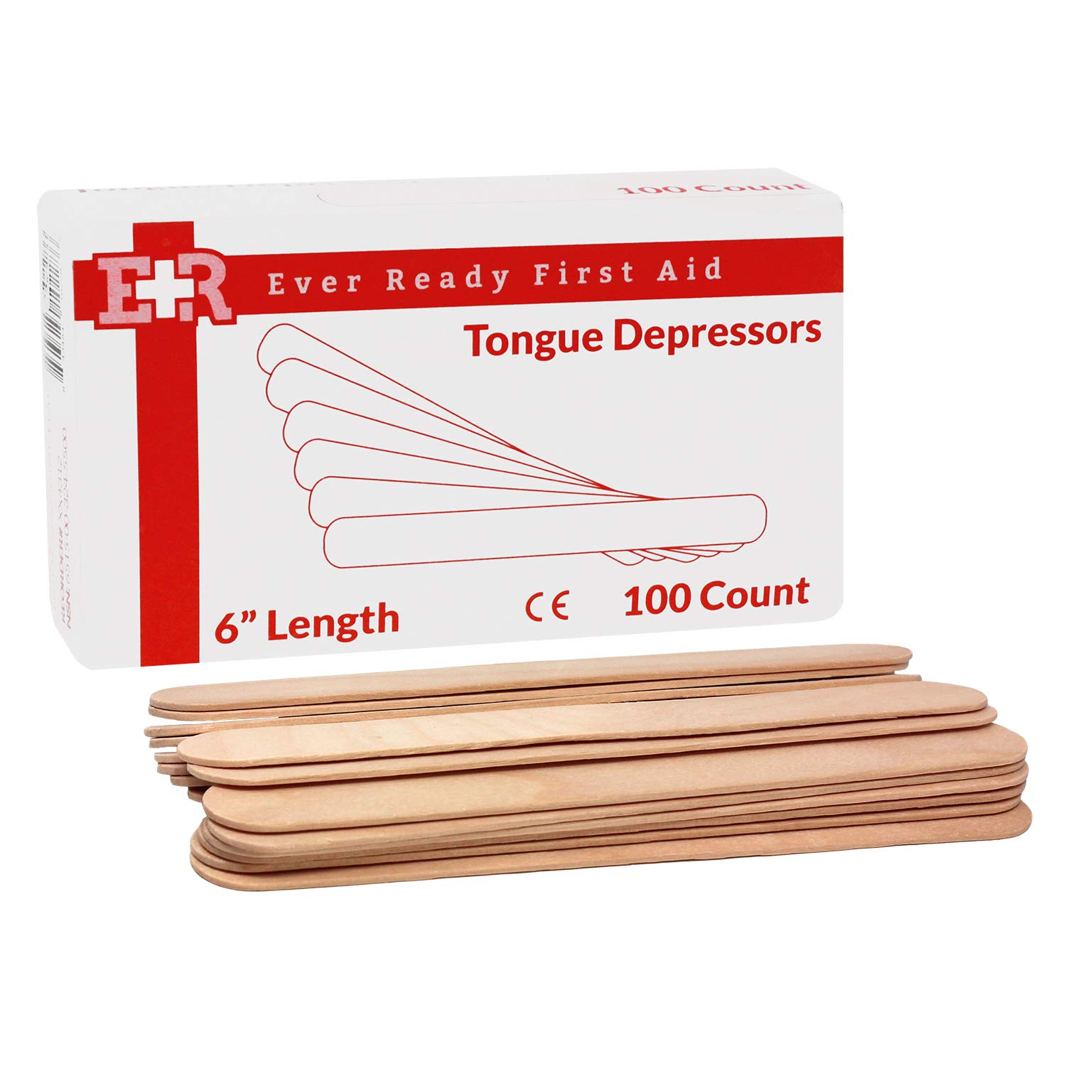 Ever Ready First Aid 6'' Tongue Depressors - 5000 Count