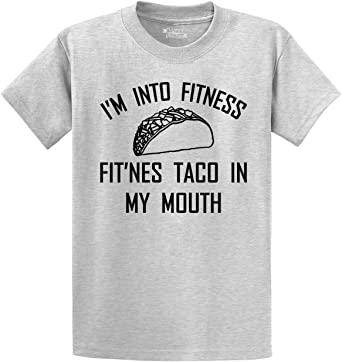 Fitness Taco in My Mouth Funny Gym Workout Foodie Lover Womens Tshirt I am into Fitness