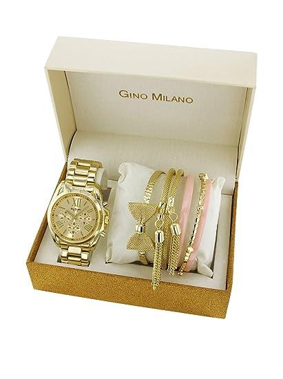 Gino Milano Reloj de Cuarzo Woman 44 mm: Amazon.es: Relojes