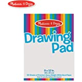 """Melissa & Doug Drawing Paper Pad (Sturdy Coloring Paper for Kids, Pages Tear Cleanly, 50 Pages, 9"""" x 12"""")"""