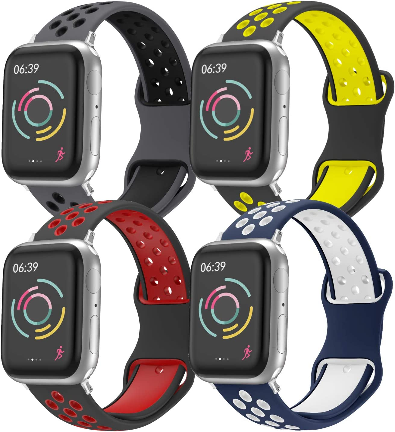 Correa de Reloj Compatible con Apple Watch 44 mm 42 mm 40 mm 38 mm, Correa de Repuesto de Silicona Suave y Agradable para la Piel, Compatible con la Serie iWatch 5/4/3/2/1