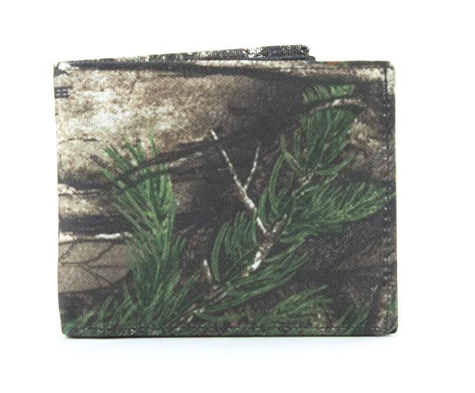 c62bc43bd20b Real Tree Men's RFID Bifold Wallet With Flap Over ID Window Black at ...