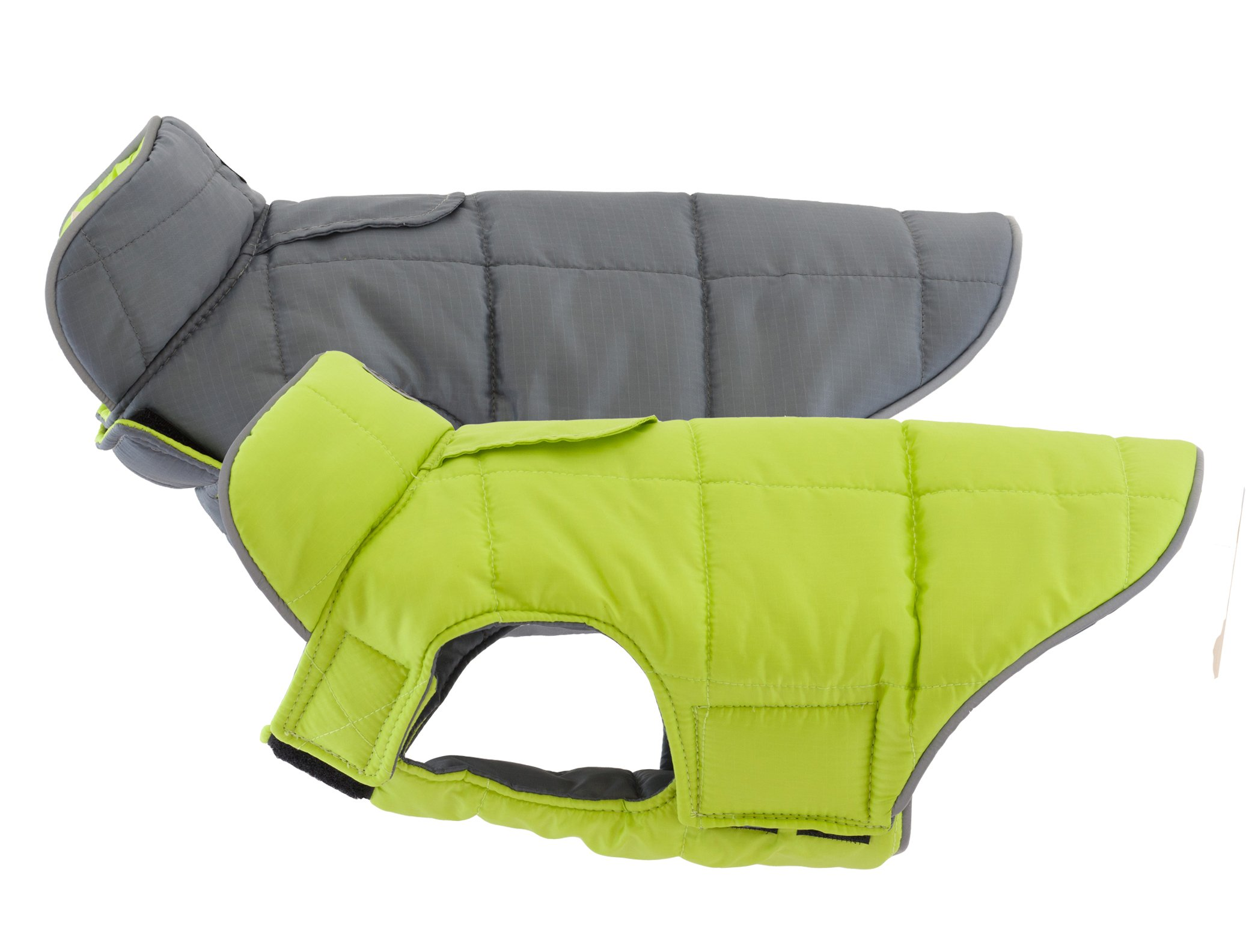 RC Pet Products Skyline Puffy Vest, Reflective, Water-Repellent, Reversible Dog Coat, Size 10, Lime/Charcoal by RC Pet Products (Image #3)
